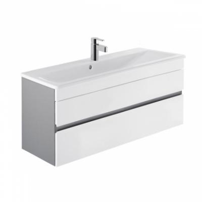 Look Wastafel 100cm compact grijs-wit
